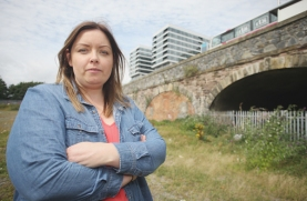 Deirdre Hargey at the tunnels in the Markets